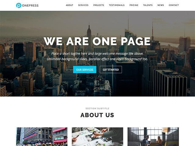 【免费主题】响应式WordPress主题OnePress WordPress 第1张